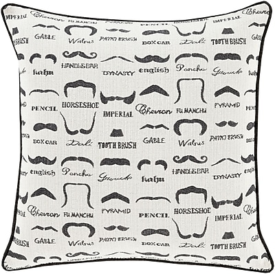 Surya WTS001-2222D Wax that Stache 100% Polyester, 22