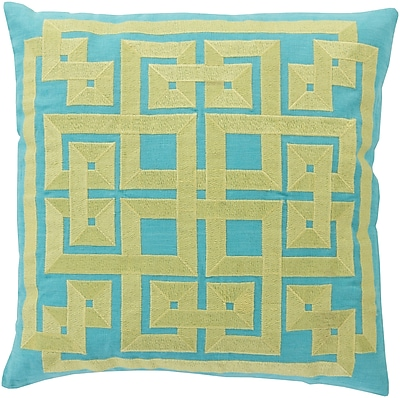 Surya LD011-2222P Gramercy 100% Linen w/ Cotton Detail, 22