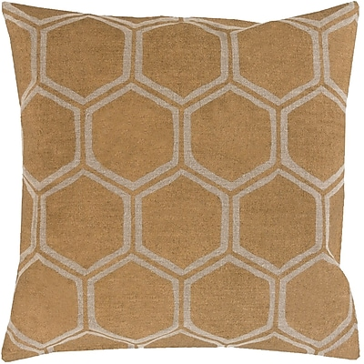Surya MS007-1818P Metallic Stamped 100% Linen, 18