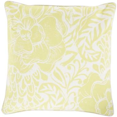 Surya KSA004-2222P Floral Block Print 100% Cotton, 22