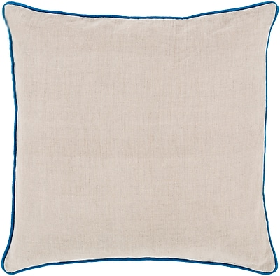 Surya LP005-1818P Linen Piped 100% Linen, 18