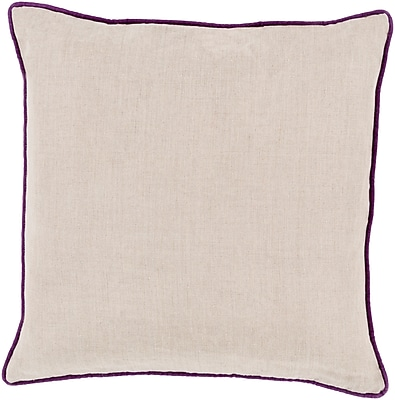 Surya LP007-2222P Linen Piped 100% Linen, 22