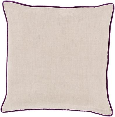 Surya LP007-1818P Linen Piped 100% Linen, 18