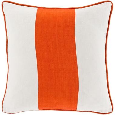 Surya LS003-1818P Linen Stripe 100% Linen, 18