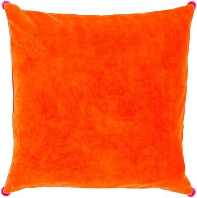 Surya VP005-2222P Velvet Poms 100% Cotton Velvet, 22