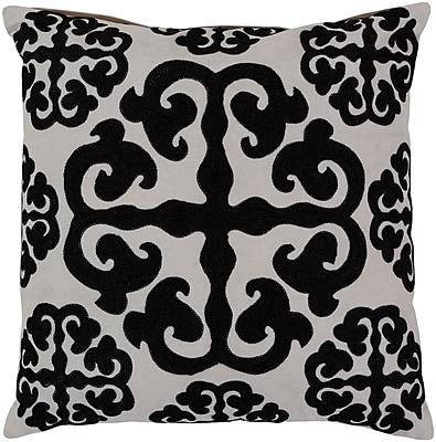 Surya LG576-1818D Madrid 100% Cotton Duck w/ Wool Detail, 18