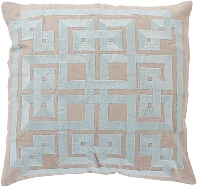 Surya LD010-1818D Gramercy 100% Linen w/ Cotton Detail, 18