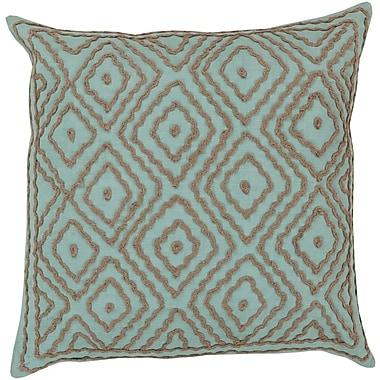 Surya LD027-1818D Atlas 100% Linen w/ Cotton Detail, 18