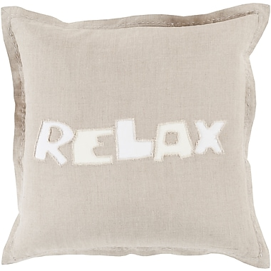 Surya RX002-1818P Relax 100% Polyester, 18