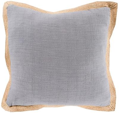Surya JF003-1818D Jute Flange 90% Cotton, 10% Jute, 18