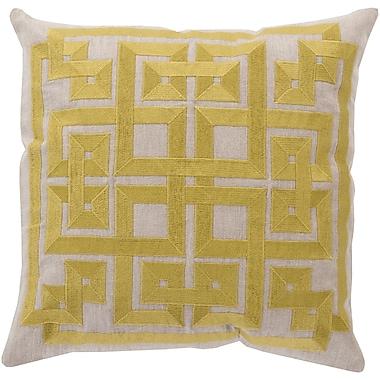 Surya LD005-1818D Gramercy 100% Linen with Cotton Detail 18