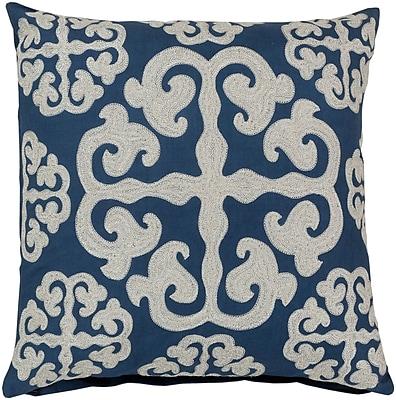 Surya LG575-2222P Madrid 100% Cotton Duck w/ Wool Detail, 22