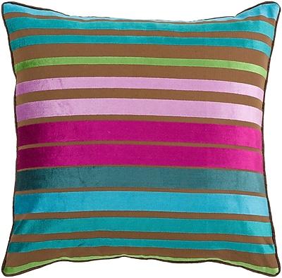 Surya JS019-1818P Velvet Stripe 60% Viscose / 40% Cotton, 18