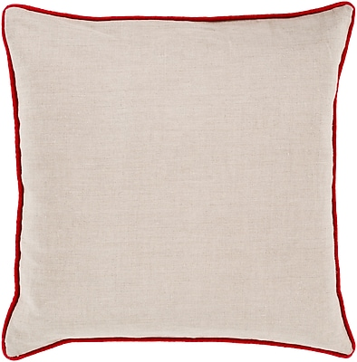 Surya LP004-2222P Linen Piped 100% Linen, 22
