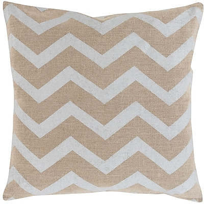 Surya MS002-1818P Metallic Stamped 100% Linen, 18