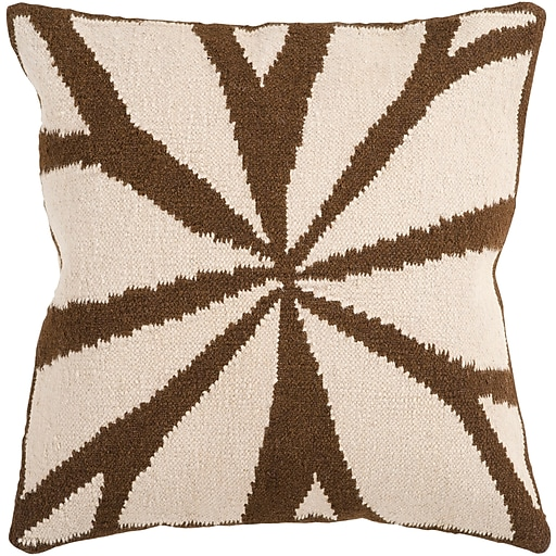 """Surya FA011-1818D Fallow 80% Wool / 20% Cotton, 18"""" x 18"""" Down Feathers"""