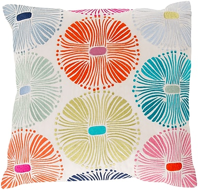 Surya KSM003-1818D Multi Burst 100% Cotton, 18