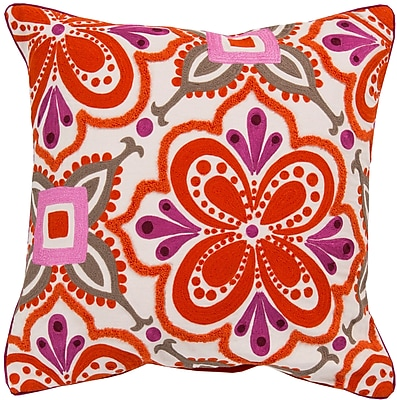 Surya KS011-2020P Alhambra Embroidered 100% Cotton, 20