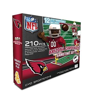 Ensemble de terrain de football NFL Game Time d'OYO, Cardinals de l'Arizona