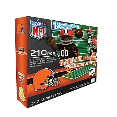 OYO Sportstoys – Ensemble de terrain de football de la NFL, Cleveland Browns