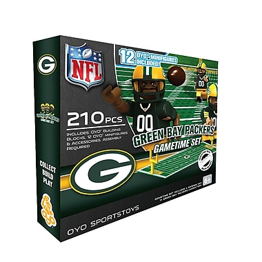 OYO Sportstoys – Ensemble de terrain de football de la NFL, Green Bay Packers