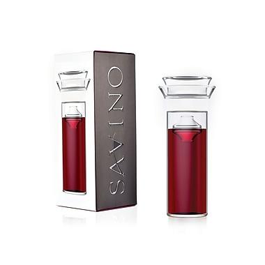 SavinoMD - Carafe en verre pour la préservation du vin Connaisseur avec couvercle et flotteur, 750 ml