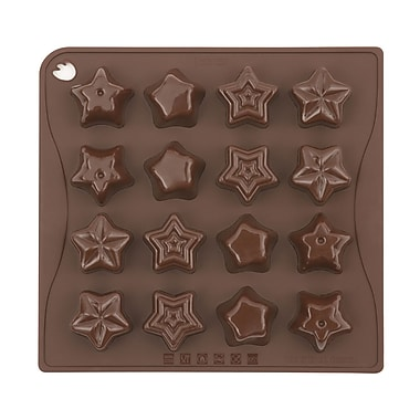 Pavoni Stars Platinum Silicone Bake Mould, 7.1