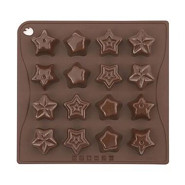 Pavoni - Moule de cuisson en silicone platine Étoiles, 7,1 po x 6,9 po, 16 cavités, 10 ml