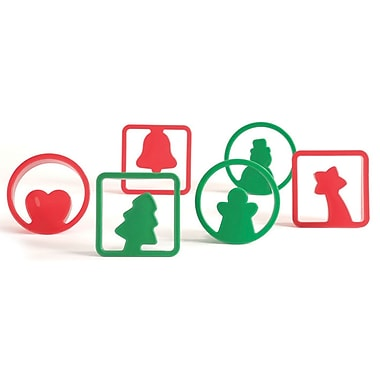 Pavoni 6 Shape Christmas Cookie Cutters, 2.8