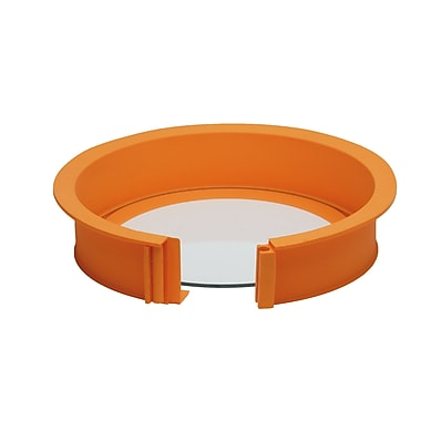 Pavoni Platinum Silicone Ring with Glass Base, Easy Cake Form