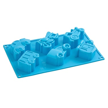 Pavoni Multi Tray Platinum Silicone Bake Mould, Move On Blue, 3.6