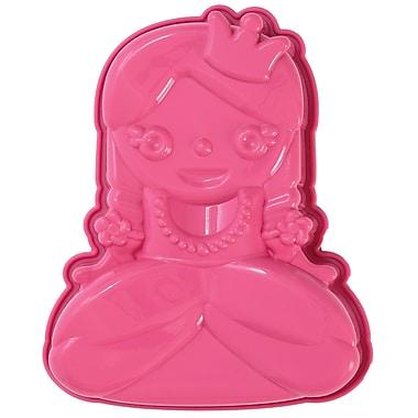 Pavoni - Mini moule de cuisson en silicone platine Miss Princy, 4,8 po x 6,1 po x 1,6 po, princesse