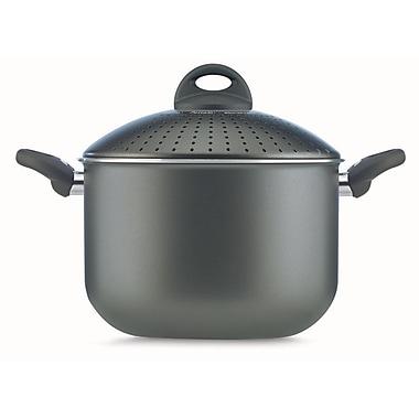 Pensofal - Casserole pour pâtes PastaSi Platino Bioceramix, 7 L, 2 poignées, couvercle verrouillable/passoire, 9,5 po