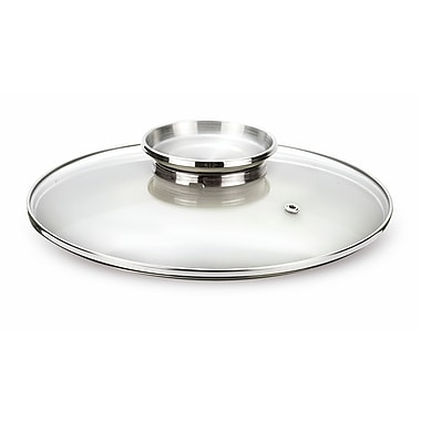 Pansofal Aroma Glass Lid with Stainless Steel Knob, 12.6