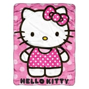 Jeté en peluche Hello Kitty