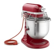 KitchenAid® KSMC895ER Empire 8 Quart Bowl Lift Stand NSF Commercial Mixer with Stainless Steel Bowl Guard, Red