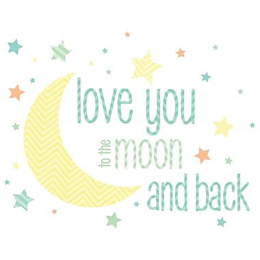 WALL POPS!MD – Mots au mur, « Love You To The Moon and Back », 49 autocollants