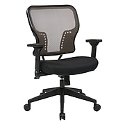 Space Seating Air Grid Back and Padded Mesh Seat Nylon & Mesh Chair