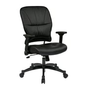 Space Seating Managers Aluminum & Leather Chair