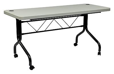 Work Smart Metal & Plastic Flip Table, 29.25