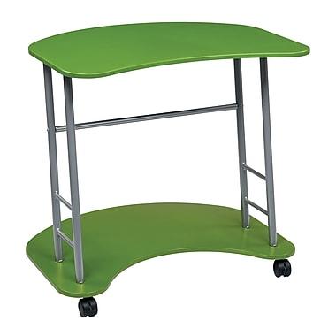 OSP Designs Kool Kolor 31.25'' Rectangular Wood/Veneer Modern Computer Desk, Green (KK406)