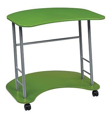 OSP Designs Kool Kolor 31.25'' Rectangular Wood/Veneer Modern Computer Desk, Green (KK406)