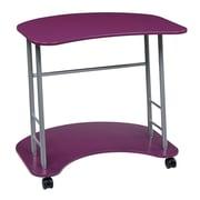 OSP Designs Kool Kolor 31.25'' Rectangular Wood/Veneer Modern Computer Desk, Purple (KK409)