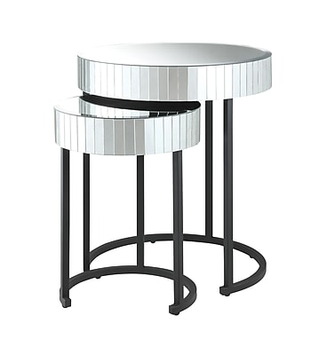 OSP Designs Steel Accent Table, Black, Each (KRY192-A)