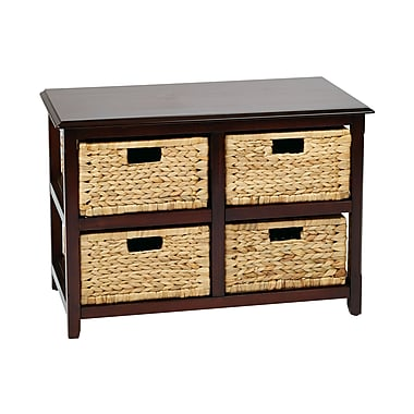 OSP Designs Seabrook Storage Unit Wood Storage Unit, 20.5