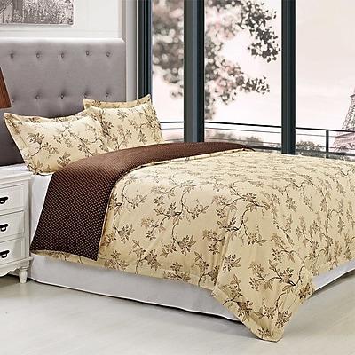 Simple Luxury Woodhaven 3 Piece Reversible Duvet Cover Set; Full/Queen