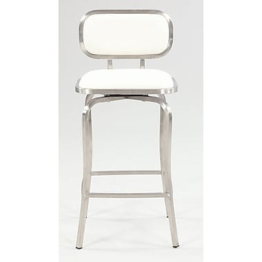 Chintaly Modern 25.98'' Swivel Bar Stool; White