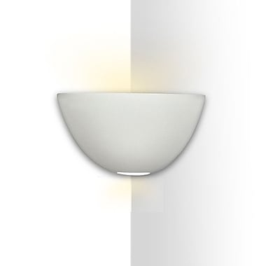 A19 Islands of Light Gran Aegina 1-Light Corner Wall Sconce; Bisque