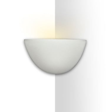A19 Islands of Light Gran Thera 1-Light Corner Wall Sconce; Dove Acrylic