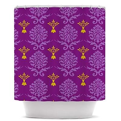 KESS InHouse Crowns Shower Curtain